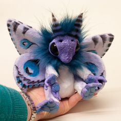 Posable Animals Lilac Mof by Magweno on DeviantArt Troll Dolls, Ooak Dolls, Plush Dolls, Art Dolls, Forest Creatures, Fantasy Creatures, Magical Creatures, Soft Sculpture, Sculptures