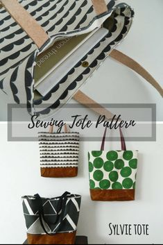 Etsy Tote Sewing Pattern! #sewing #sewingpattern #ad