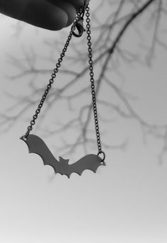 Bat Necklace Silhouette.