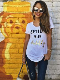 graphic tee, graphic shirt, graphic tshirt, bubbly, cute sayings, how to dress your graphic tee, woman's graphic shirts, woman's graphic tshirts