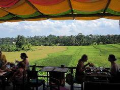 Sari Organic Ubud, Bali-check Such a cool little restaurant away from the hustle out in the middle of a rice patty