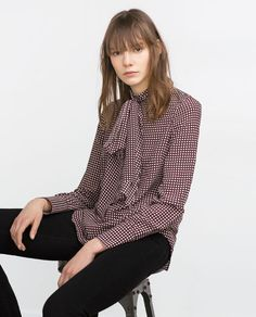 Image 1 of PRINTED BLOUSE from Zara