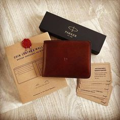 Slim, functional design with a coin pocket and Italian leather. Get our leather coin wallet in dark brown with free worldwide shipping! Slim Leather Wallet, Handmade Leather Wallet, Coin Wallet, Italian Leather, Dark Brown, Initials, Coins, Card Holder, Monogram