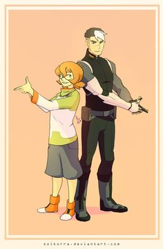 Shiro and Pidge from Voltron Legendary Defender