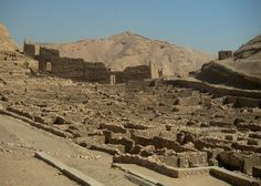 Workmen's Village (Deir-El-Medina) which housed artisans who worked on the pharaohs' tombs