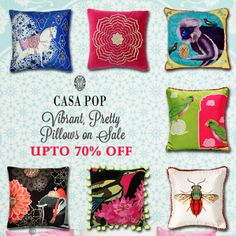 Add a dash of texture, drama, and colour, with pretty pillows. Now upto off! Hurry up and visit Casa POP store in Select Citywalk, Delhi! Fashion Sale, Fashion Brand, Luxury Home Decor, Luxury Homes, Casa Pop, End Of Season Sale, Accent Decor, Fashion Accessories, Drama