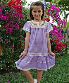 Look at this #zulilyfind! Lilac Lucy Ibiza Dress - Infant, Toddler & Girls by Little Cotton Dress #zulilyfinds