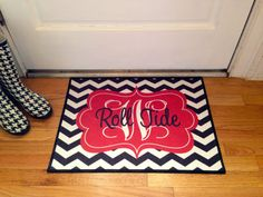 Roll Tides Alabama Personalized Door Mat Monogram Floor Mat Chevron on Etsy, $30.00