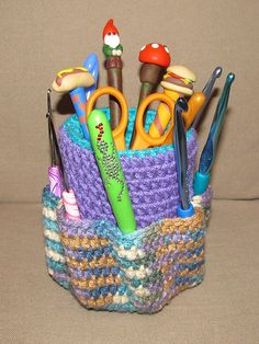 $1~Ravelry: Hook Caddy pattern by Crazy Curls Crocheting