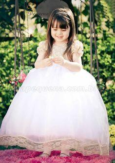 Vestido branco infantil para formatura