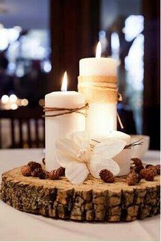 wax candle wedding centerpieces | Centerres de la boda de la vela de la cera