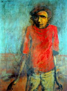The Listening Boy George Russell Drysdale (1912-81) Australia