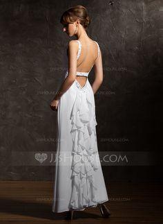Evening Dresses - $137.99 - A-Line/Princess V-neck Ankle-Length Chiffon Evening Dress With Beading (017020735) http://jjshouse.com/A-Line-Princess-V-Neck-Ankle-Length-Chiffon-Evening-Dress-With-Beading-017020735-g20735