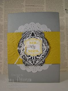 Beautifully Baroque Bundle Wedding Card, Jenny Peterson, Stampin' Up! Demonstrator