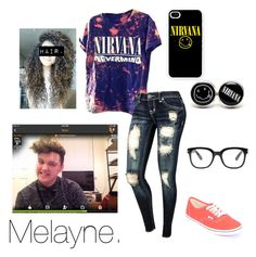 """Nirvana-sam smith"" by inspire-connors ❤ liked on Polyvore featuring Forever 21, Vans and Samsung"