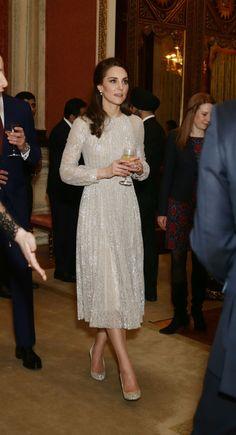The Duchess of Cambridge Was Peak Princess at Buckingham Palace Last Night