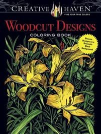 Boklysten: Målarbok: Woodcut Designs