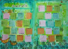 March calendar from ...the kathryn wheel