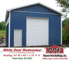 3 car garage with attic dimensions 30 w x 40 l x 10 h for 10 x 8 garage door price