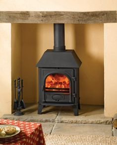 Stovax Stockton 5 Log Burner Stove « Log Burner and Multi Fuel Stove Installers in Birmingham and Solihull Home Appliances, Home, House, Room, Stove, Living Room, Wood, Fireplace, Log Burner