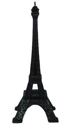 Torre Eiffel Escultura Preta