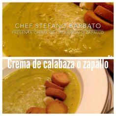 http://www.chefstefanobarbato.com/es/crema-de-calabazas-o-zapallo/ #crema #Calabaza #Zapallo #frio #sopita