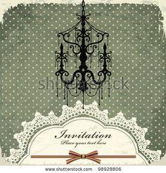 stock vector : Vintage chandelier frame template (30)