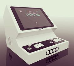 EXarcade gaming machine concept. Arcade Bartop design by EXarchitects  Concept design of an stylish bartop machine for playing retro games. Final one coming soon ...  Old School Gaming Machine