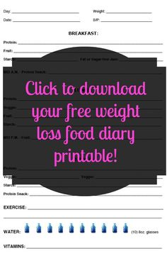 Free and Customizable Weight Loss Journal Printable - Easily customize to whatever plan you are following!