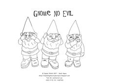 My Hiding Place In Cyberspace: Stitchalong Samples and NEW Free Gnome Embroidery Pattern