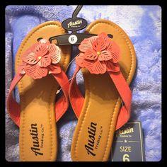 Austin Salmon Color Sandals