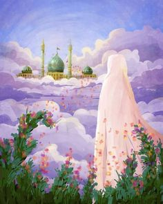 Muslim Images, Islamic Images, Islamic Pictures, Islamic Paintings, Religious Paintings, Religious Photos, Religious Art, Islamic Wallpaper Hd, Hijab Drawing