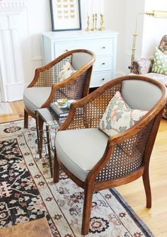 Tiffany Leigh Interior Design: Cane Chair Makeover - Switch Studio