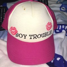 Boy Trouble hat Pacsun has a couple little stains on the very top. PacSun Accessories Hats