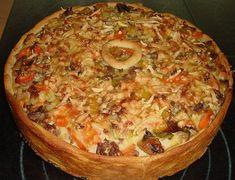 Hackfleisch - Schmand - Torte 3