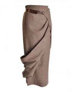 The draping looks straight out of an illustration    Long Wrap Belted Skirt, Cavells Country
