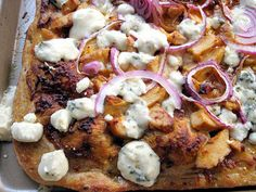 Buffalo Chicken Pizza with Blue Cheese