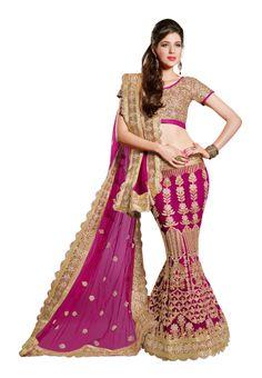 Charming #Designer Pink #Lehenga