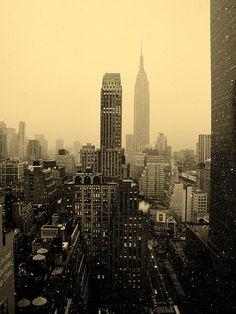 Snowy New York Skyline