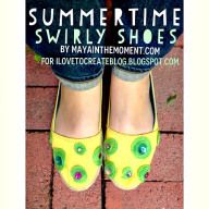 DIY Summertime Swirly Shoes