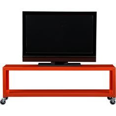 """Industrial Revolutions. 60""""W x18""""D x 20""""H  details:Steel with orange powdercoat finish. Utilitarian design. Four industrial casters; two lockIncluded anti-tip hardware recommended for added stability."""