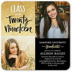 Invite the guests to the celebration with stylish graduation invitations. Personalize with all the event details Senior Invitations, Graduation Invitations College, College Graduation Announcements, Invitation Ideas, Invitation Wording, Senior Graduation Quotes, Graduation Photoshoot, Graduation Diy, Graduation Pictures