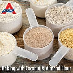 We get a lot of questions about using almond flour and coconut flour for baking. They're a great alternative to wheat flour, but neither can be substituted 1:1 for all-purpose flour in traditional recipes. Click to check out tips to help you succeed.: