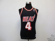 Vtg 90s Champion Miami Heat Rony Seikaly #4 Basketball Jersey sz 40 NBA Black  #Champion # #tcpkickz