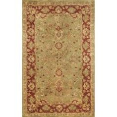 @Overstock - This Issa rug is hand-tufted of 100-percent wool in India. The attractive color pallet and oriental design offers elegance and traditional styling. The jeavy cut pile construction with transitional designs is sure to add refinement to any setting.http://www.overstock.com/Home-Garden/Hand-tufted-Issa-Green-Wool-Rug-8-x-10/6783576/product.html?CID=214117 $409.99