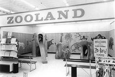 A special feature of Richman Gordman stores was Zooland for children. The Lincoln store had an area similar to this one in Omaha. Council Bluffs Iowa, Des Moines Iowa, Lincoln Nebraska, A Moment In Time, Old Signs, Geek Humor, Rich Man, My Childhood Memories, The Good Old Days