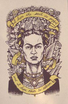 Frida Kahlo Last Words no. 1 Second Edition darker paper variant