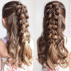 20+ Fancy Little Girl Braids Hairstyle | Pinterest | Girl hairstyles ...