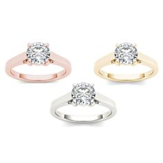 De Couer 14k Gold 1ct TDW Diamond Classic Engagement Ring (H-I I2) (White Gold Size-6) Women's