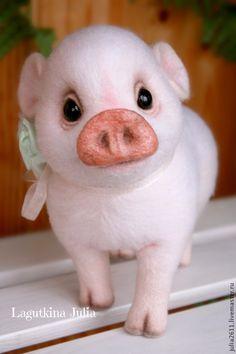 """Купить Поросёнок """"Зефирчик"""" - бледно-розовый, поросенок, поросята, хрюшка, поросёнок, ручная работа, хрюша"""
